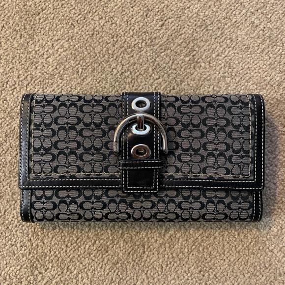 Coach Handbags - Coach check book wallet